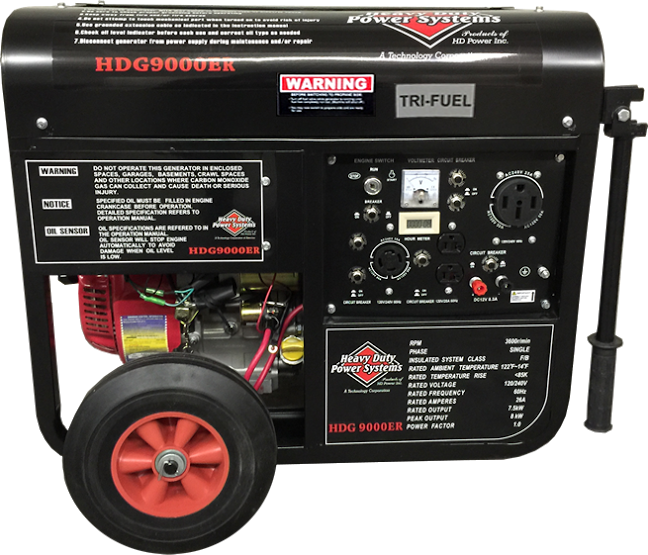 HDG9000ER TRI-FUEL 15 HP Generator<br /><strong>$4,350.00</strong>