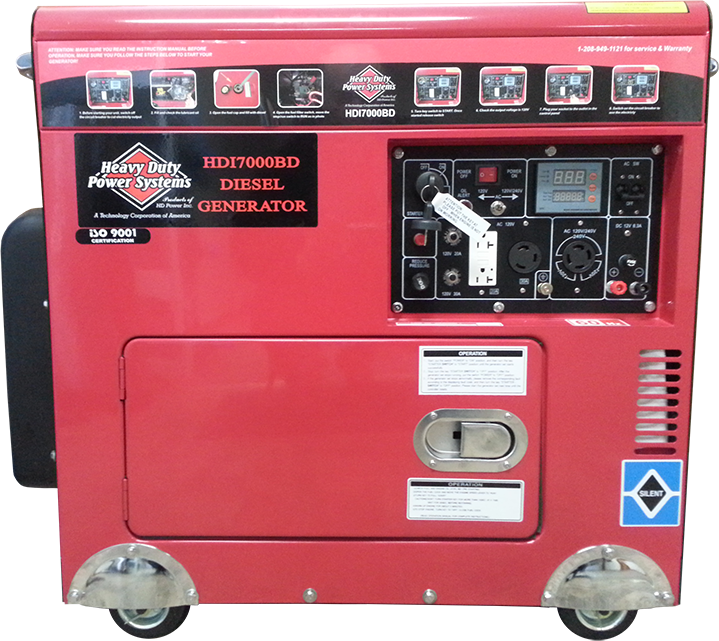HDI7000BD Diesel Generator<br /><strong>$6,960.00</strong>