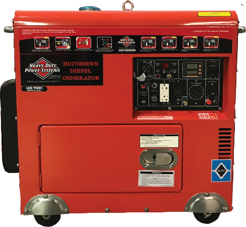 Model HDI7000RWB Contractor's Series Diesel Generator<br /><strong>$6,980.00</strong>