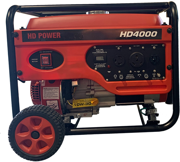 HD4000 Portable Generator<br /><strong>$599.95</strong>